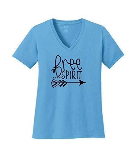6bccdbd49 Free Spirit - Ladies V Neck Short Sleeve Tee Shirts S M L XL 2X 3X 4X