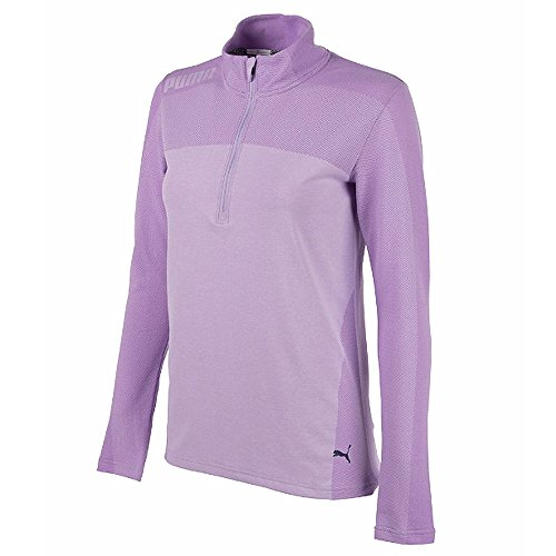 (PUMA Golf Women's 2018 Evoknit Seamless 1/4 Zip Outwear, Purple Rose, X-Large)