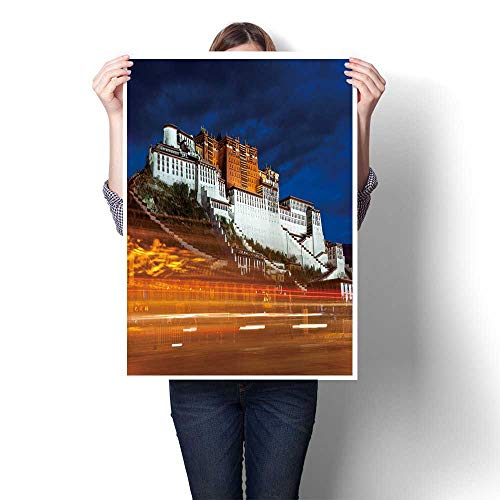 (Canvas Wall Art potala Palace in Tibet chinataken in After Sunset Canvas,16