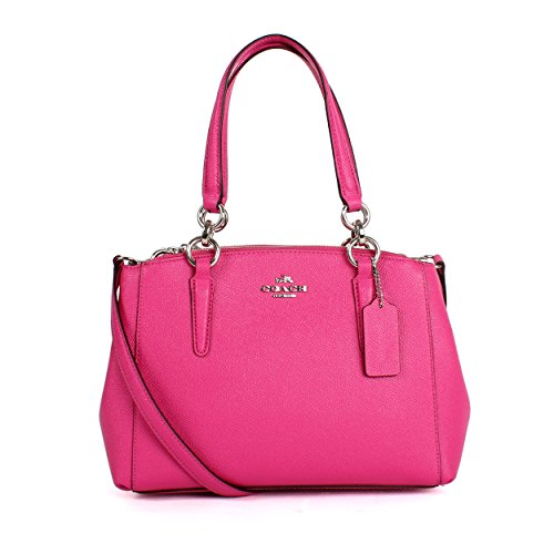 Pink Purses (Coach Women's small Leather Bag Handbag F57523 (Rose powder))