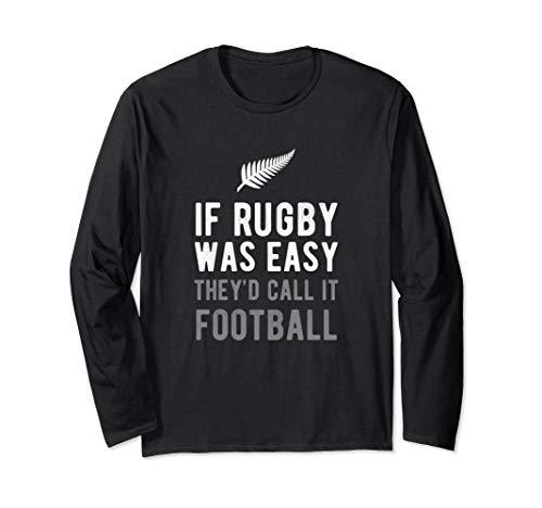 Rugby Shirt Funny New Zealand NZ Silver Fern Kiwi Tee