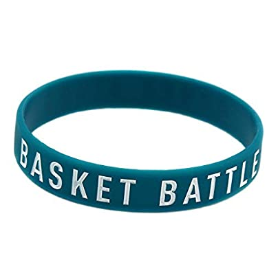 Silicone Wristbands with Sayings Basket Battle Never Stops Silicone Bracelets for Men Encouragement Set Pieces Estimated Price £20.66 -