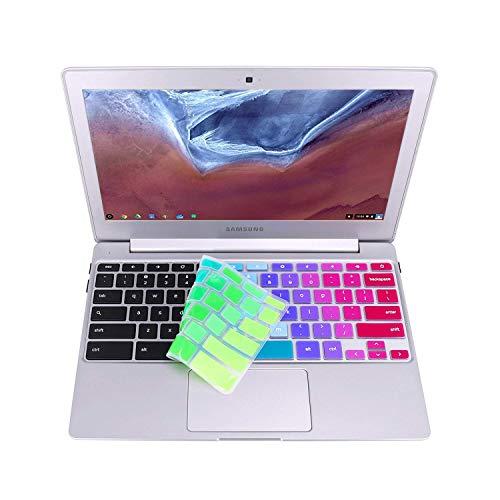 Keyboard Cover Skin Compatible 2018 2017 Samsung Chromebook 3 /Samsung Chromebook Plus V2 2-in-1 12.2 /11.6 Samsung Chromebook /11.6 Samsung Chromebook 2 (Not for 12.3 Chromebook Plus) -Rainbow