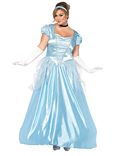 Womens Plus Size Classic Long Cinderella Storybook Costume- Complete Set with -