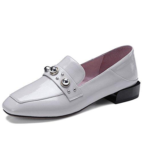 Klassieke Casual Loafers Voor Dames - Mocassins Met Zachte Slip Op Schoenen D3157y Lichtgrijs