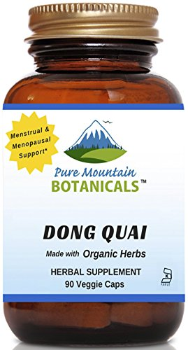 Dong Quai Capsules - 90 Kosher Vegetarian Caps - Now with 500mg Organic Dong Quai Root Powder
