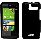 EMPIRE Black Rubberized Hard Case Cover for Sprint HTC Arrive