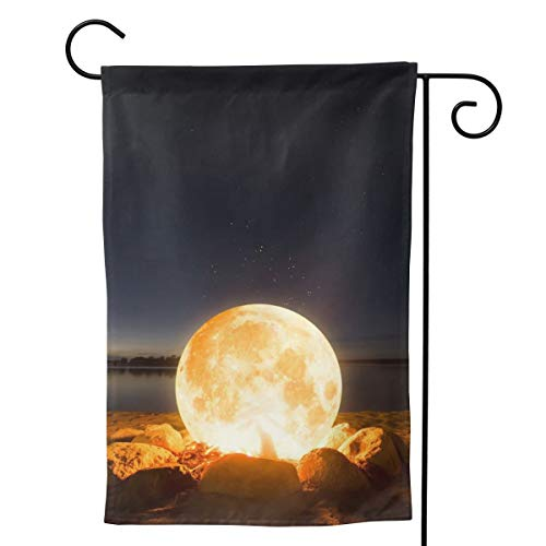 MINIOZE Camping Moon Beacon Light Themed Welcome Extra Big Large Jumbo for Party Outdoor Outside Decorations Ornament Picks Garden Yard Decor Double Sided 28