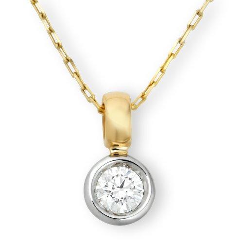 Miore - Collier Femme - Or deux couleurs 750/1000 (18 carats) 2.29 gr - Diamant 0.25 cts