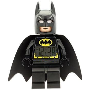 LEGO DC Comics Super Heroes Batman Kids Minifigure Light Up Alarm Clock | black/yelow | plastic | 9.5 inches tall | LCD display | boy girl | official