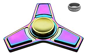 Mermaker Best Fidget Spinner Toy for Relieving ADHD, Anxiety, Boredom EDC Tri-Spinner Fidget Toy, Smooth Surface Finish, Ultra Durable