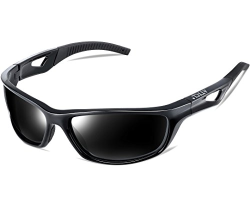 0cec39189ed0e ATTCL Mens Sports Polarized Sunglasses Sports Glasses for Men Cycling  Driving Golf 306 Black. Black-as the pictures
