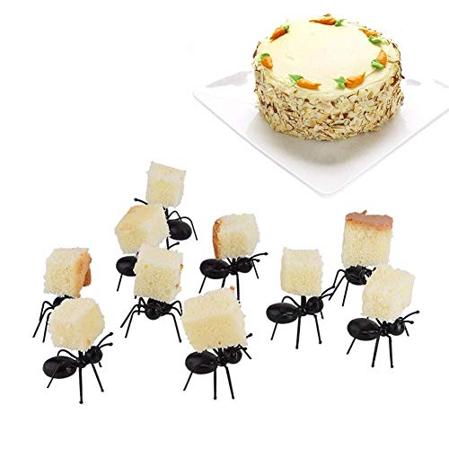 Forks - 12pcs Set Ant K Serving Ks Cake Dessert Food Pick Snack Party - Front Variety Serve Right Dessert Lock Cocktail Maker Seal Mobil Aged Baby Halloween Pick Mask Shred Fruit Decor]()