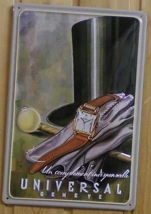 Diseño Universal Geneve ginebra Suiza reloj de pulsera