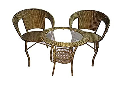 Unique360 Rex Garden Outdoor Set ,Garden Patio Seating Set 1+2 (2 Chairs And Table Set)