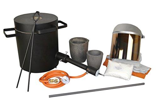10 Kg Light Duty Melter's Propane Melting Furnace Kit Scrap Jewelry Metal Gold Melting Casting Refining Forge Set ()
