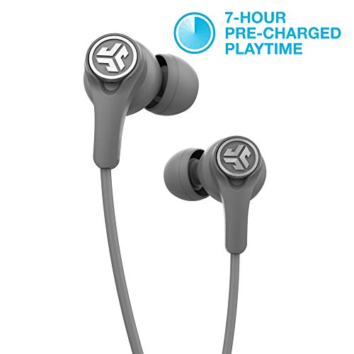 JLab Audio Epic Executive Wireless Active Noise Canceling Earbuds | Bluetooth 4.1 | 11-Hour Battery Life | Universal Music Control | Bluetooth Headphones, Travel Case Included | Gray ()