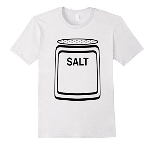Salt Pepper Shaker Halloween Costumes (Mens Salt Shaker Halloween Costume T-Shirt for Couples Medium White)