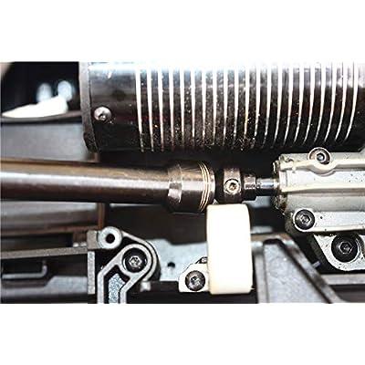 Harden Steel Thicker Center Rear Driveshaft for Traxxas Unlimited Desert Racer UDR 8555: Toys & Games
