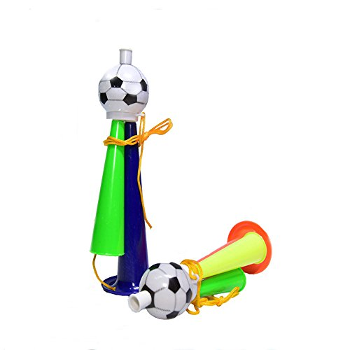 Soochat cheer horn,Football Fans Plastic Horn Party Carnival Concerts Funny Safety Three Sound Trumpet Toy (Cheer Horn)