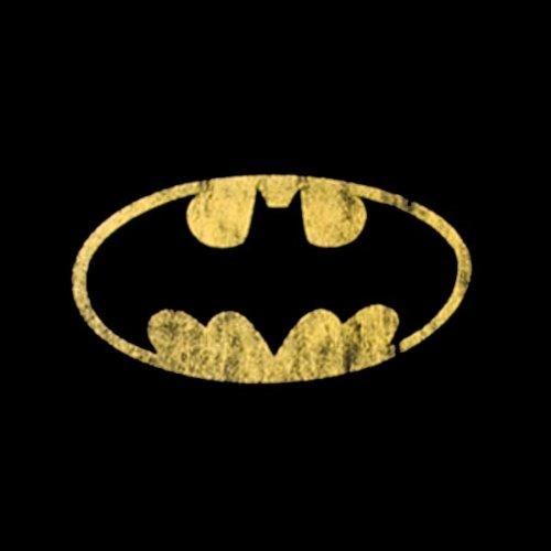 Batman Dark Knight - T-Shirt Femme Rétro Logo Distressed Shield - Noir - L