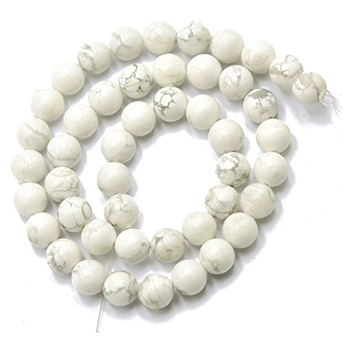 8mm Blanc Rond Bijoux Perles Artificielles en Vrac 15 inch
