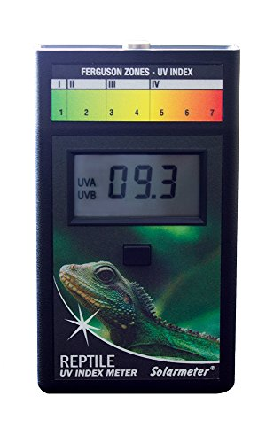 - Solarmeter Model 6.5R Reptile UV Index Meter, ABS Polymer, Black