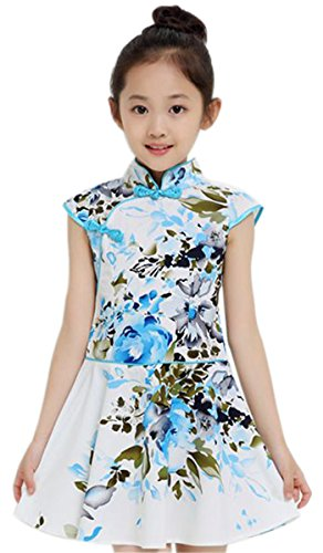Suimiki Girls Kids China Style Chinese Qipao Cheongsam Dress Costume Top G140]()