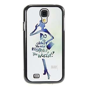 MOFY-Alfabeto de la se–ora del patr—n de aluminio y pl‡stico cubierta de la caja trasera dura para Samsung Galaxy S4 i9500