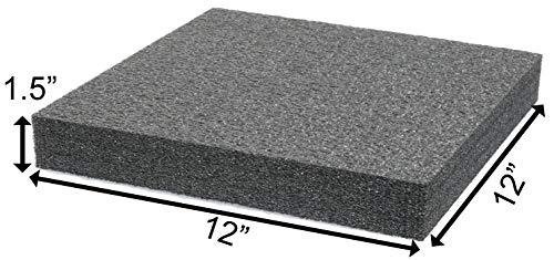 Case Club Customizable Polyethylene Foam 12 x 12 x 1.5 Inches