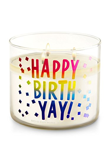 - Bath & Body Works 3 Wick Conversation Candle, Happy BirthYay! (Midnight Blue Citrus)
