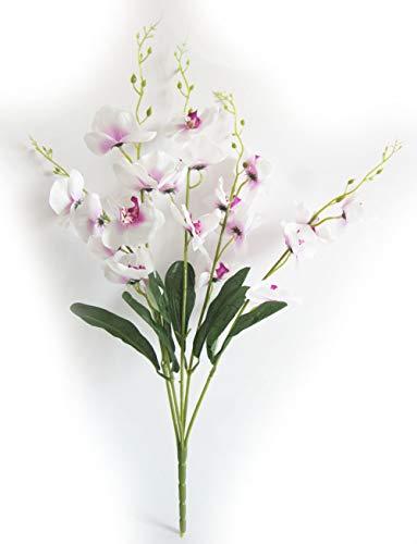 Artfen Artificial Butterfly Orchid Flower Silk Flower Bouquet Artificial Flower Plant for Wedding Home Decoration 24