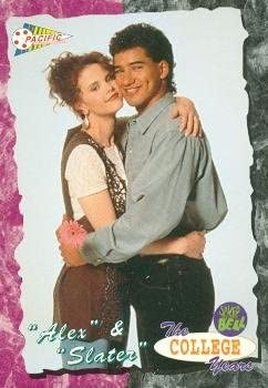 AC Slater and Alex Tabor trading card Saved by the Bell 1994 Pacific #24  Kiersten Warren Mario Lopez at Amazon's Entertainment Collectibles Store