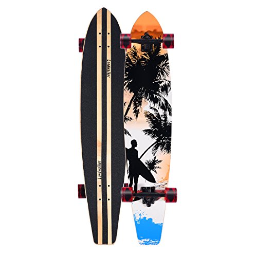 Landwalker Pintail Complete Longboard 44'x9' with 70mm Wheels