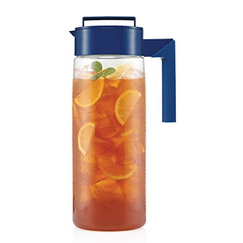 Takeya Iced Tea Maker with Patented Flash Chill Technology Made in USA, 2 Quart, Blueberry by Takeya (Image #2)