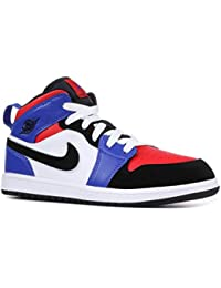27dd2808593 Boy's Jordan 1 Mid (PS) Pre-School Shoe White/Black-Hyper · Nike