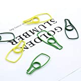 Autumn Water 9PCS/LOT Beer Bottle Shape Paper Clips Yellow Green Color Funny Kawaii Bookmark Office School Stationery Marking Clip