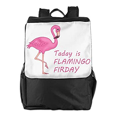 Rongyingst Today Is Flamingo Firday Messenger Bag Shoulder Backpack Travel Hiking Rucksack For Womens Mens Boys Girls School Bookbags