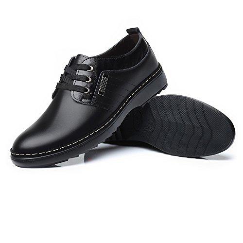 Cuir Hommes Matte pour en Respirant Véritable Sport Hommes Oxford Chaussures Casual de pour en Shoes en Chaussures Lace Doublés Up Black Upper Cuir Business Cuir w0fq1C
