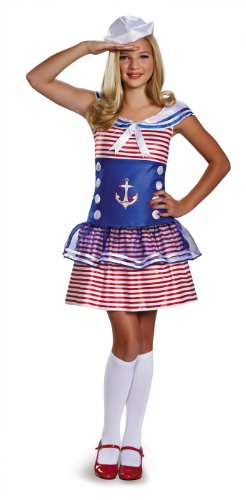 Disguise Dress Up Dolls Sailing Sweetheart Tween Costume, Large (10-12)
