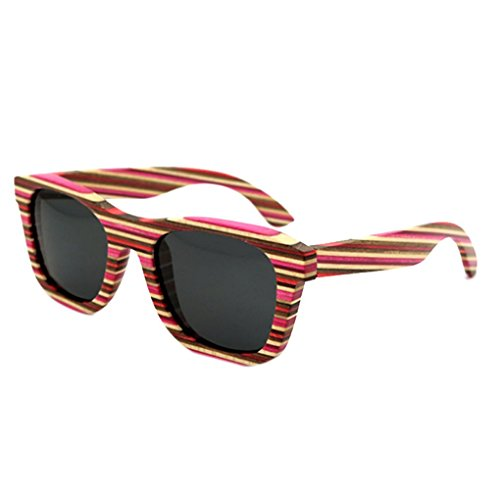 Outdoor protection Hommes bois UV400 fille Lunettes lentille coloré Lunettes Casual soleil polarisées lidahaotin Femmes lunettes de rondes grise cadre Lunettes en 1ITqwOpOc