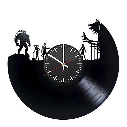 DC Comic HANDMADE Vinyl Record Wall Clock - Get unique home room wall decor - Gift ideas for teens – Superhero Unique Modern (Unique Superhero Gifts)