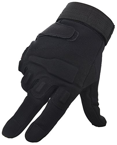 Simplicity Men Women's Cycling Motorcycle Gloves Mittens, Full Finger Black XL