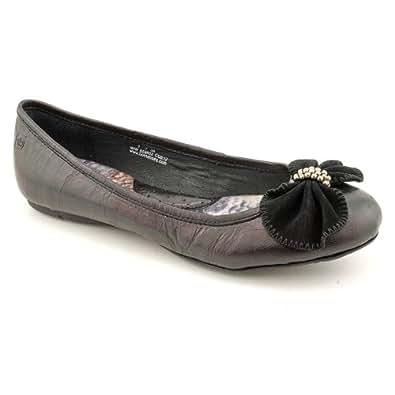 Women's Born, Josie leather Flat Shoes BLACK 10 M