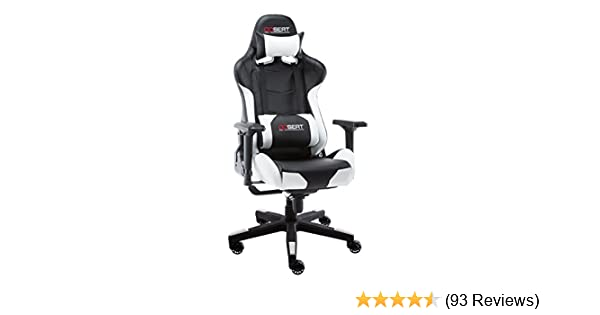 Amazon.com: OPSEAT Master Series PC Gaming Chair Racing Seat Computer Gaming Desk Office Chair - White: Kitchen & Dining