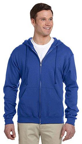 Jerzees mens 8 oz. 50/50 NuBlend Fleece Full-Zip Hood(993)-ROYAL-S