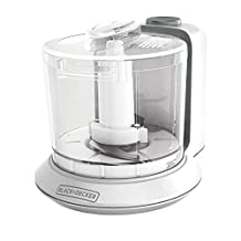 BLACK+DECKER HC306C 1-1/2-Cup One-Touch Electric Chopper, White
