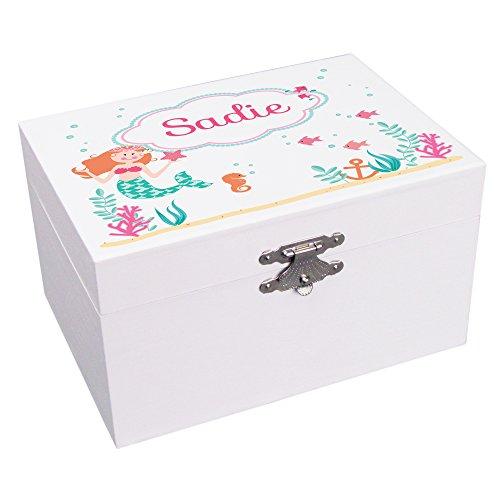Personalized Mermaid Ballerina Jewelry Box