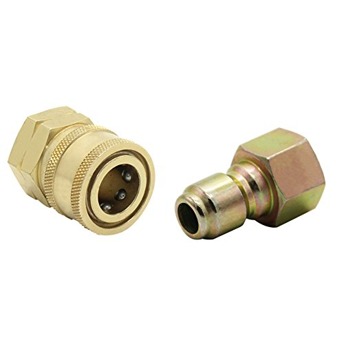 Twinkle Star 3/8 Inch Quick Connect Fitting Pressure Washer Adapter Set, TWIS293