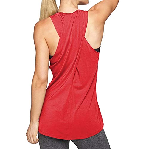 Ghazzi Women Tank Top Training Yoga Gym Waistcoat Blouses Running Jogger Sport Vest Tops Workout Sweatshirt